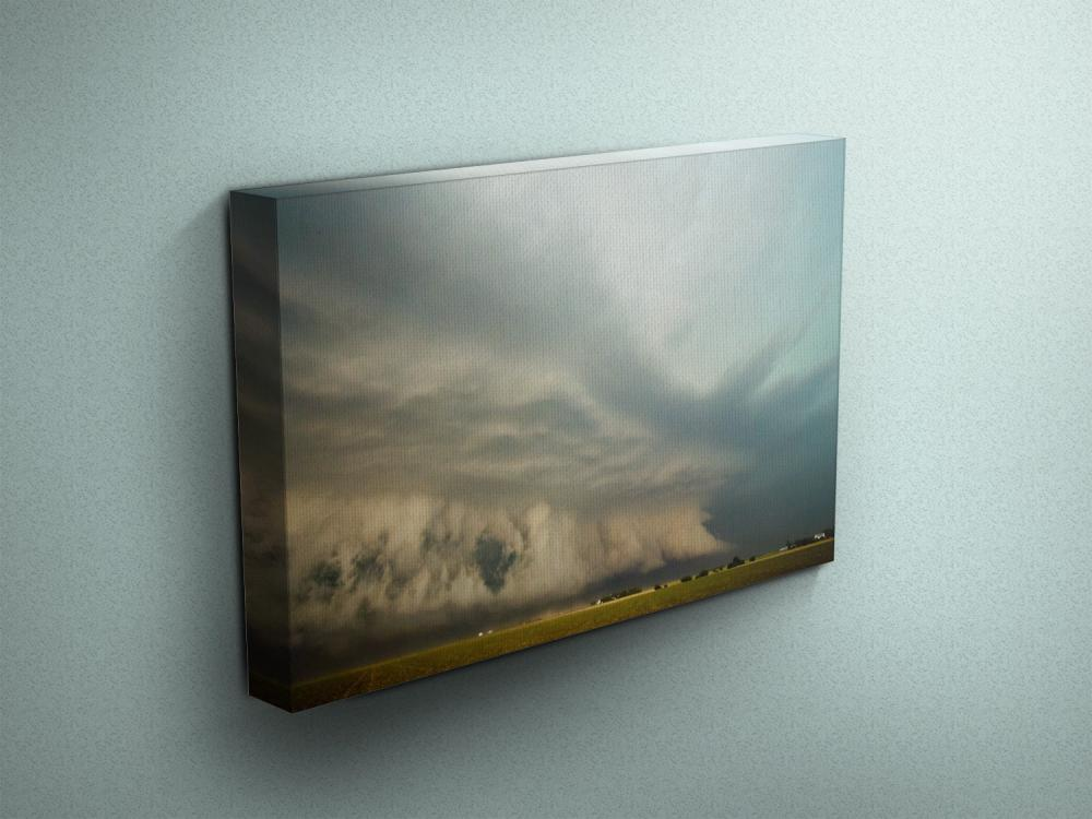 """Thunderstorm in Kansas - Fine Art Photograph on Gallery Wrapped Canvas - 16x12"""" & more"""